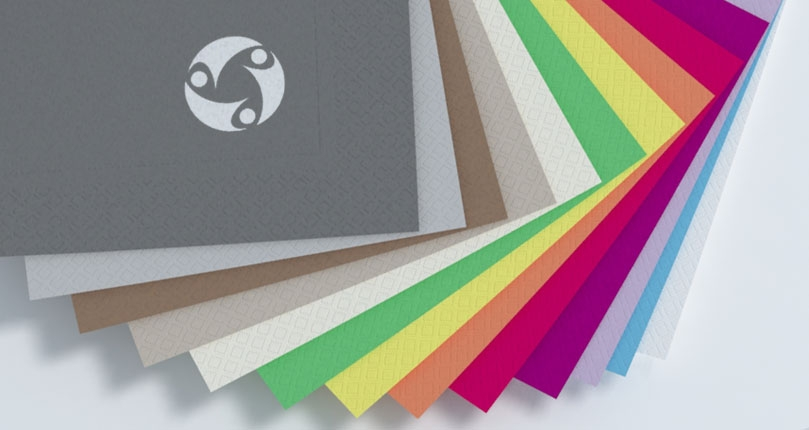 Napkins 2 veils with frame 40X40 colored fold in 4